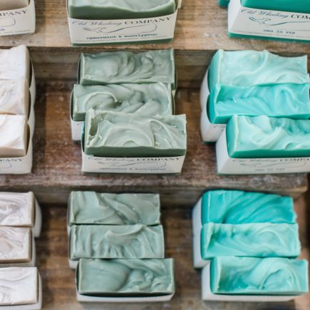 bars of colourful soap without plastic packaging